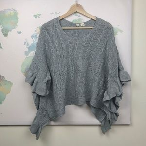 Anthropologie Moth Arched Ripples Poncho Size S/M